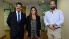 Álvaro Pérez, socio Recabarren & Asociados; Macarena Fernández, abogada Grupo Nogaleda; José Escudero, tax director Hapag Lloyd.