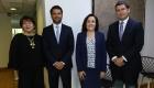 Felipe Kattan, gerente asuntos jurídicos y seguros Finning; Fanny Tagle, subgerente de asuntos legales Depósito Central de Valores; Felipe Cornejo, fiscal Mutual de Seguros de Chile.